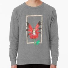 Rose Secret Fairy Lightweight Sweatshirt Chiffon Shirt, Chiffon Tops, Long Hoodie, Wearable Art, Laptop Sleeves, Legends, Classic T Shirts, Shirt Designs, Mini Skirts