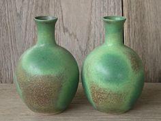 Japanese Ceramics, Ceramic Vase, Set Of 2 Small Vases, Small Flower Vase, Decor Vase, Brown Vase, Gifts, Decor, Made In Japan.