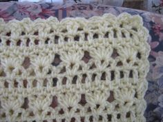 Be My Sunshine Afghan if you turn the afghan around, the stitches look like little angels w/ their arms raised!