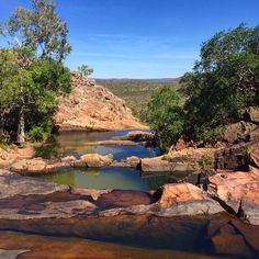 Gunlom falls nt the top secret swimming holes in australia - nt trip. Outback Australia, Australia Travel, Alice Springs, Camping, Swimming Holes, Living At Home, Travel Goals, Natural Wonders, Places To See