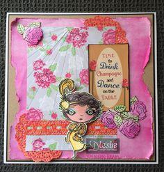 Pauline Orr - Verity Rose -CD ROM: Topper and Papers - Starlet Stamp & Accessories kit - Doily die - Border die - Spectrum Aqua pens - Matt Black card - Kraft card - Collall 3D Glue Gel - Collall All Purpose Glue - #crafterscompanion