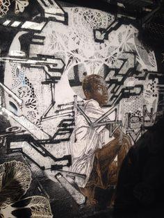 "Artist :Swoon ""Street Art - OFFICIELLE/FIAC"" Les docks Paris"""