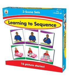 Learning to Sequence 3-Scene Board Game - Carson Dellosa Publishing Education Supplies