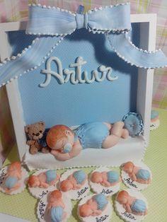 Quadrinho Porta de Maternidade e Lembrancinhas contato: ale.biscuit@hotmail.com