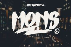 Mons Typeface by giemons on Envato Elements