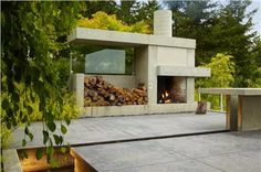 Outdoor Fireplace by Ines Hanl