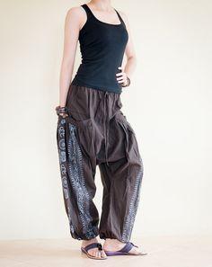 Harem Aladdin Unisex Pants Hindu Om Sanskrit by AmazingThaiStore, $36.00