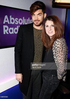 Adam Lambert visits Danielle Perry at Absolute Radio on November 18, 2015 in London, England.