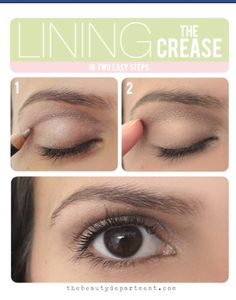 Contour eyes with pencil!