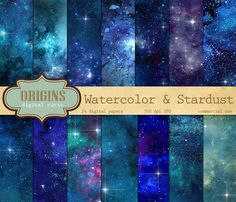 Starfield Digital Paper Galaxy Night Sky by OriginsDigitalCurio