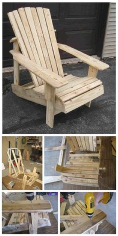 DIY Pallet Projects - Do it Yourself Pallet Adirondack Chair Step By Step Woodworking Tutorial via Home Stratosphere
