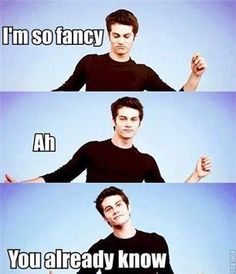 Teen wolf. Dylan tells it like it is : )