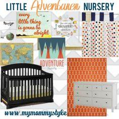 Little Adventurer Baby Boy Nursery | My Mommy Style