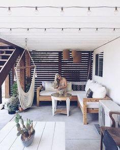 28 Ways to Use Those Magical String Lights - Terrasse Modern Backyard, Small Backyard Landscaping, Backyard Patio, Landscaping Ideas, Backyard Ideas, Nice Backyard, String Lights Outdoor, Outdoor Lighting, Lighting Ideas