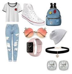 """""""comodo"""" by anguiejuliana on Polyvore featuring Topshop, Converse, IMoshion, Betsey Johnson and Frederic Sage"""