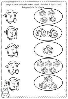 balık penguen eşleme Kindergarten Math Worksheets, Math Literacy, Preschool Math, Numeracy, Math Activities, Tot School, Winter Kids, Kids And Parenting, Arctic