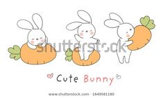 Find Draw Character Design Rabbit Carrot Easter stock images in HD and millions of other royalty-free stock photos, illustrations and vectors in the Shutterstock collection. Thousands of new, high-quality pictures added every day. Rabbit Drawing, Coloring Pages To Print, Banner Design, Art For Kids, Character Design, Stones, Carving, Clip Art, Easter