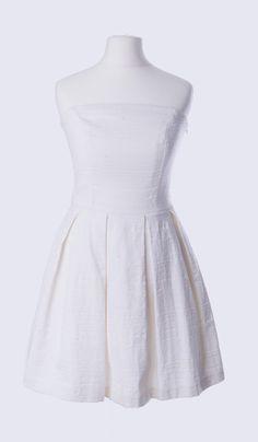 ROLAND GARROS & WHITE SPIRIT: inspiration by Les Cachotières / Robe bustier blanche à emprunter chez Les Cachotières