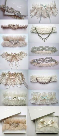 keep calm and marry on!: what's under your wedding dress?? it matters! I am IN LOVE with these garters from Etsy.. Wowweeee