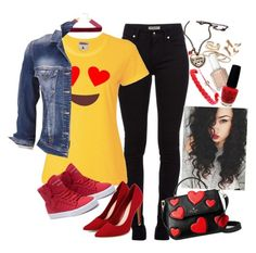 """""""Valentine's Day Casual Outfit FT #EmojiStyle❤️"""" by axelyamary ❤ liked on Polyvore featuring Kate Spade, Domo Beads, Burberry, Essie, OPI, maurices and Supra"""