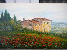 Imágenes Arte Pinturas: Casas Coloniales De Campos Con Flores, Paisajes Por Luciano Torsi