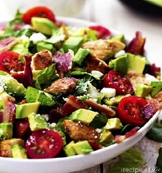 Avocado, Chicken and Bacon Chopped Salad | Eat and Exercise