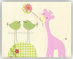 Nursery Decor Art for Kids Room...Having fun by DesignByMaya, $17.00