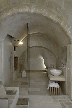 Unique bathroom! Love the arched ceiling! #bathrooms #bathroomdesigns homechanneltv.com