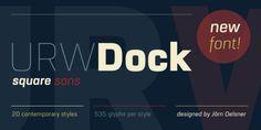 Font dňa – URW Dock   https://detepe.sk/font-dna-urw-dock?utm_content=buffer9157d&utm_medium=social&utm_source=pinterest.com&utm_campaign=buffer