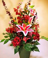 How to clean artificial flowers and plants cleaning pinterest vibrant star gazer lily floral arrangement mightylinksfo