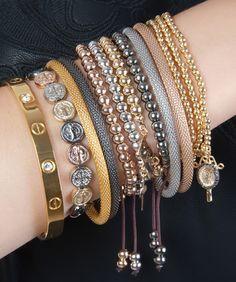 modinha bela: Mix de pulseiras