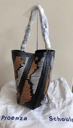 df132ff80f42 NWT  1990 PROENZA SCHOULER Medium Hex Smooth Bucket Leather Bag Shoulder  Handbag  PROENZASCHOULER  ShoulderBag