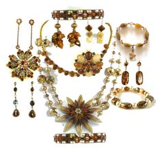 """""""Brooches onto Necklaces"""" by lauraleeds ❤ liked on Polyvore"""
