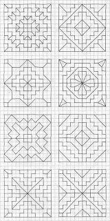 Blackwork Patterns, Blackwork Embroidery, Cross Stitch Patterns, Quilt Patterns, Embroidery Patterns, Graph Paper Drawings, Graph Paper Art, Geometric Drawing, Geometric Art
