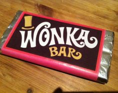 Willy Wonka and the Chocolate Factory - Wonka Bar - Edible Prop Replica