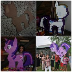 My Little Pony Piñata with drum technique  #MyLittlePony #DIY Birtdhay party ideas