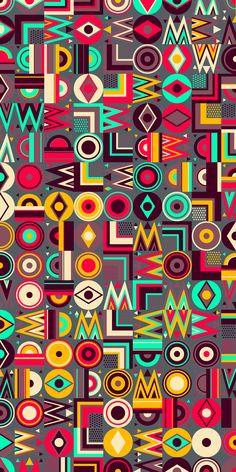Russfussuk 'Cuzco' Pattern  #patterndesign #surfacepattern #fabricdesign #textiledesign #patternprint #geometric #generative #padrões #russfussuk