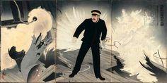 """""""Navy Commander Hirose Takeo"""" by Kobayashi Kiyochika, 1904"""