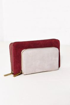 Cooperative Suede Double Pocket Wallet