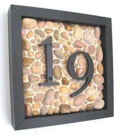 Diy house number post