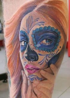 Sugar skull girl portrait