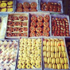 Shirini Kermanshahi -- Iranian (Persian) cookies & pastries from the Kermanshah region of Iran - Yummy memory from trip to Iran I the shirini include: Kock, koloocheh and noon keshmeshi