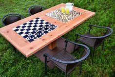 Ah! E se falando em madeira...: Mesa de games, passo a passo no blog
