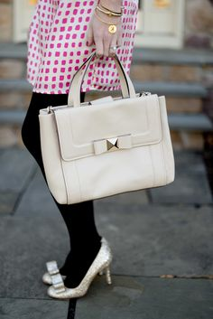 Harlyn Dresses, Bow Bags and Pearls - Kelly in the City