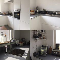 White kitchen. Witte keuken.