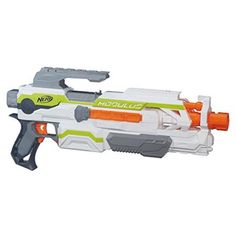 """The Nerf Modulus system lets boys build their own blaster for each mission or battle. Over 1000 different combinations are possible with the full Nerf Modulus system! """"Part of the Nerf Modulus system. Sports Games For Kids, Toys For Boys, Kids Toys, Nerf Gun, Nerf Toys, Building For Kids, Backyard For Kids, Airsoft Guns, Infinity War"""