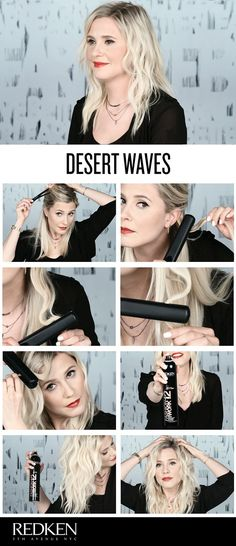 Creating waves with a flat iron is quick and easy. In this hairstyle tutorial, Redken Stylist Emily Heser shows you how she creates desert waves in five minutes flat using Redken hair products. Wear t