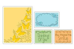 Sizzix Textured Impressions - 4 Pack - Butterfly Migration