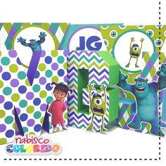 Letra 3D Monstros SA - Festa personalizada