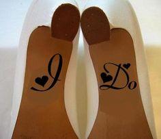 ...Spécial Mariage Sticker chaussure i do Couleur Noir